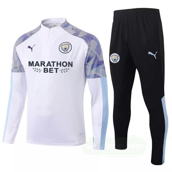 Vente PUMA Survêtements Manchester City 2020 2021 Blanc Purpura