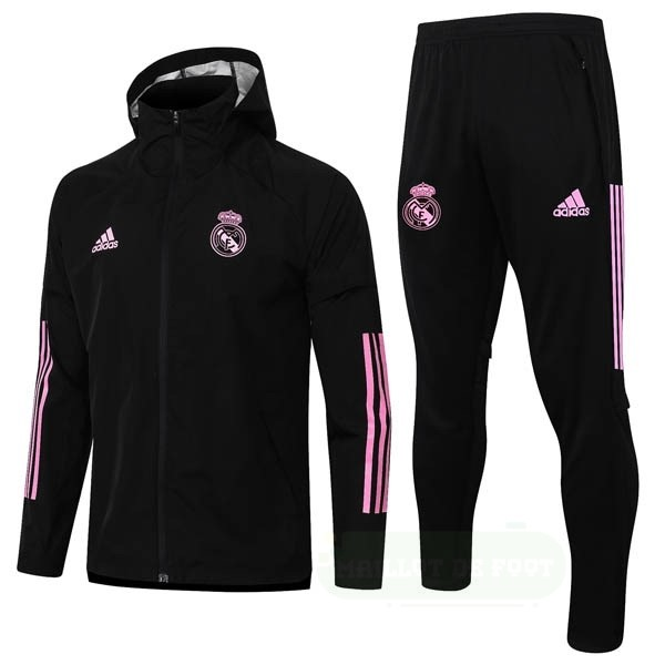Vente adidas Conjunto Completo Coupe Vent Real Madrid 2020 2021 Noir Rose