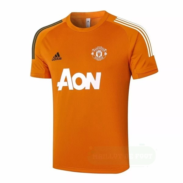 Vente adidas Entrainement Manchester United 2020 2021 Orange