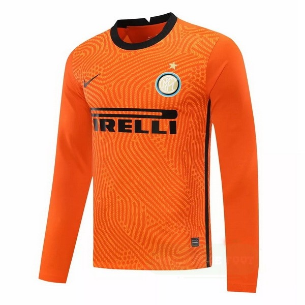 Vente Nike Manches Longues Gardiena Inter Milán 2020 2021 Orange