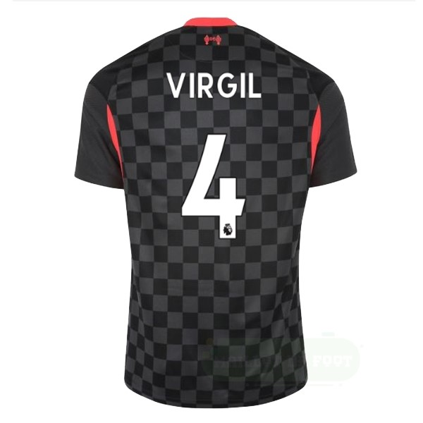 Vente Nike NO.4 Virgil Third Maillot Liverpool 2020 2021 Noir