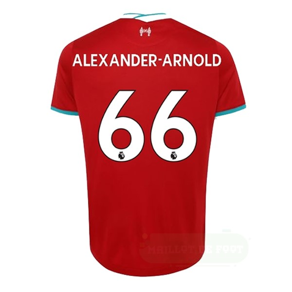 Vente Nike NO.66 Arnold Domicile Maillot Liverpool 2020 2021 Rouge