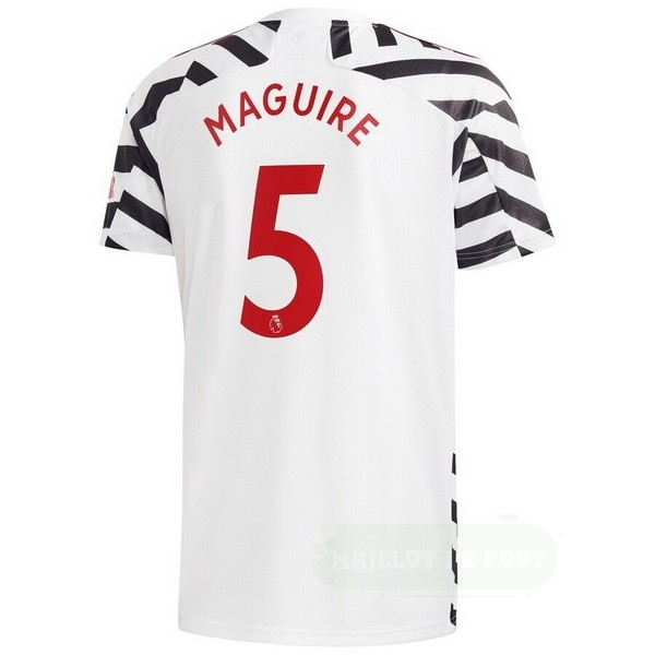 Vente adidas NO.5 Maguire Third Maillot Manchester United 2020 2021 Blanc