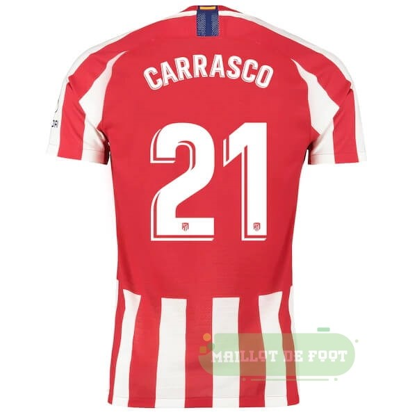 Vente Nike NO.21 Carrasco Domicile Maillot Atlético de Madrid 2019 2020 Rouge