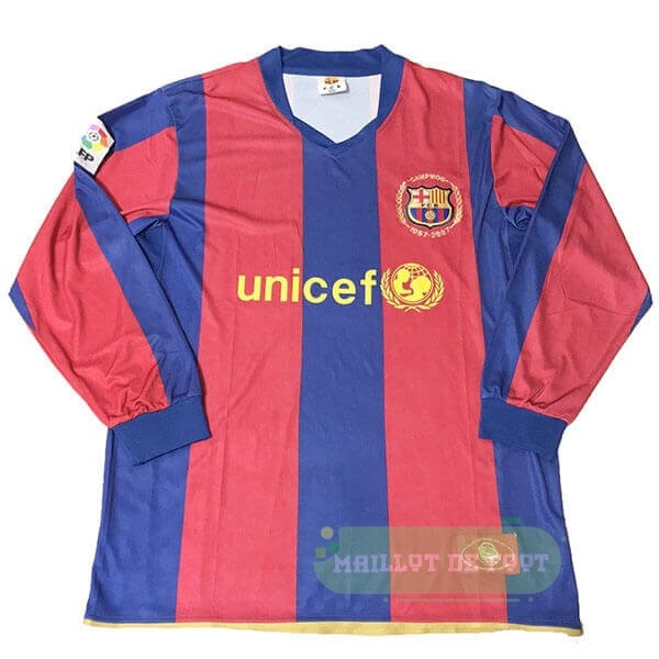 Vente Nike Manches Longues Barcelona 50th Bleu Rouge