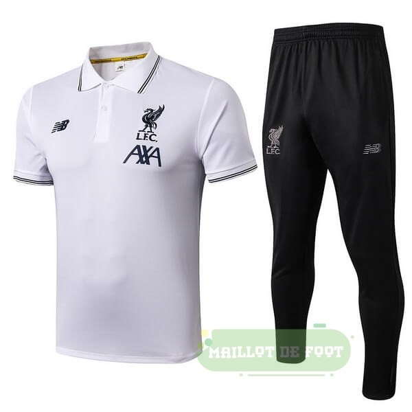 Vente New Balance Ensemble Polo Liverpool 2019 2020 Blanc Noir