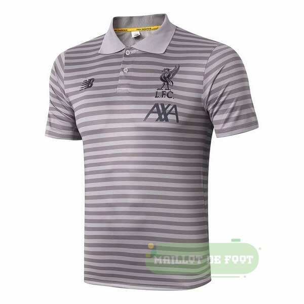Vente New Balance Polo Liverpool 2019 2020 Gris Clair
