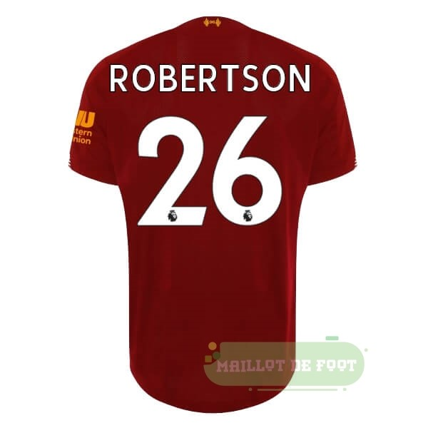 Vente New Balance NO.26 Robertson Domicile Maillot Liverpool 2019 2020 Rouge