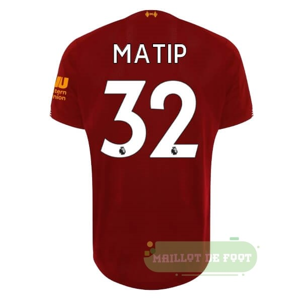 Vente New Balance NO.32 Matip Domicile Maillot Liverpool 2019 2020 Rouge