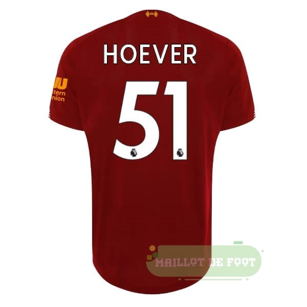 Vente New Balance NO.51 Hoever Domicile Maillot Liverpool 2019 2020 Rouge
