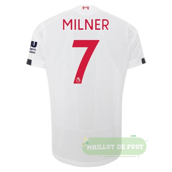 Vente New Balance NO.7 Milner Exterieur Maillot Liverpool 2019 2020 Blanc