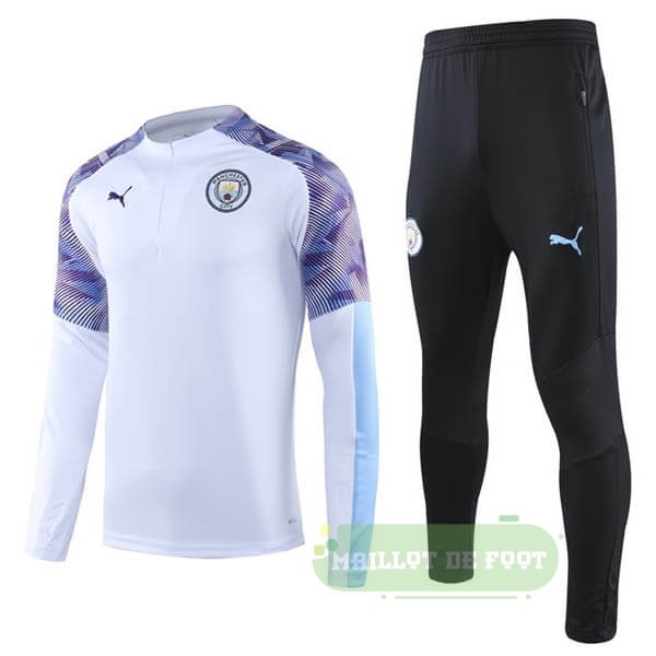 Vente PUMA Survêtements Manchester City 2019 2020 Blanc Purpura