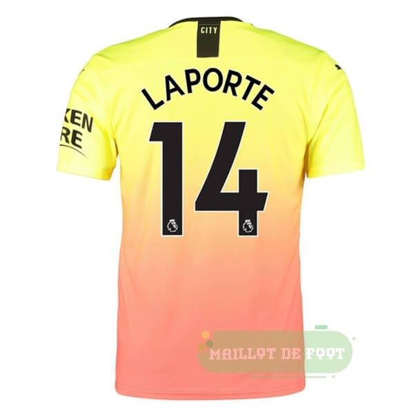 Vente PUMA NO.14 Laporte Third Maillot Manchester City 2019 2020 Orange