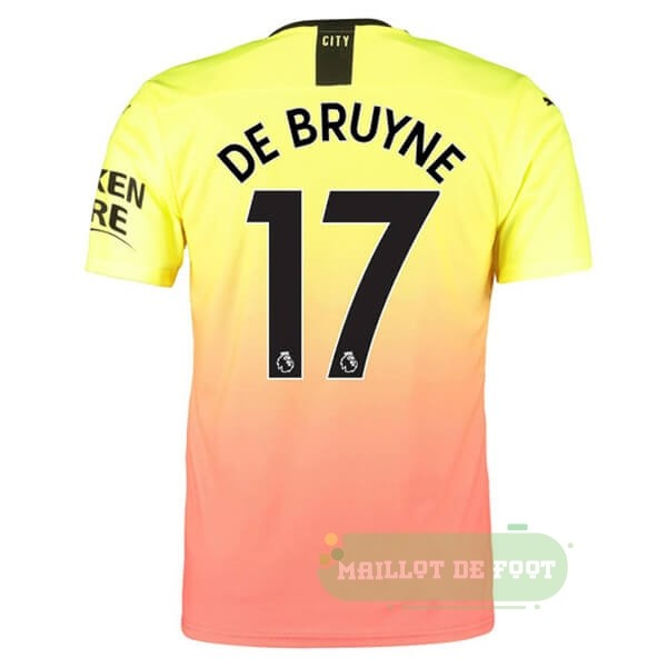 Vente PUMA NO.17 De Bruyne Third Maillot Manchester City 2019 2020 Orange