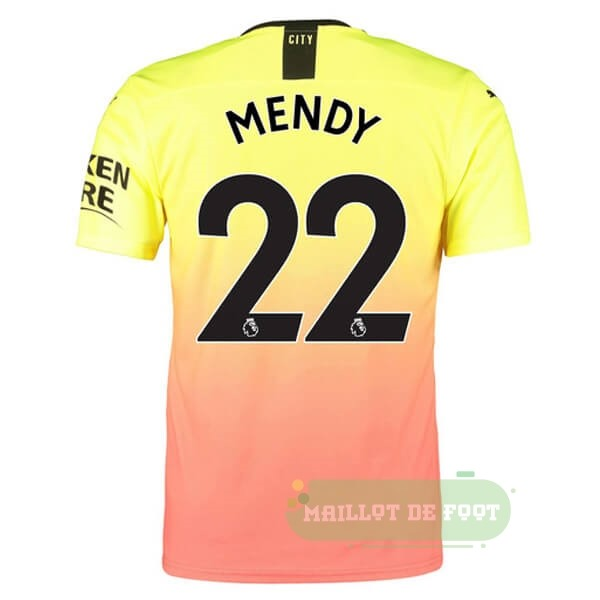 Vente PUMA NO.22 Mendy Third Maillot Manchester City 2019 2020 Orange