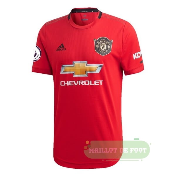 Vente adidas Thailande Domicile Maillot Manchester United 2019 2020 Rouge