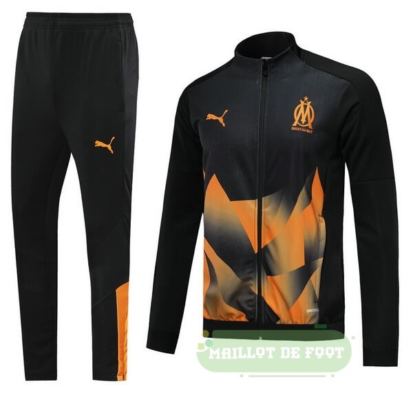 Vente PUMA Survêtements Marseille 2019 2020 Noir Orange