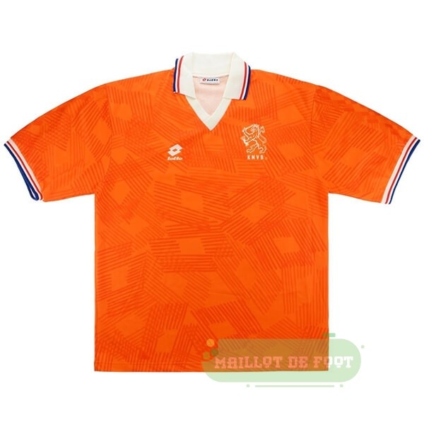 Vente Lotto Domicile Maillot Pays Bas Retro 1991 1992 Orange