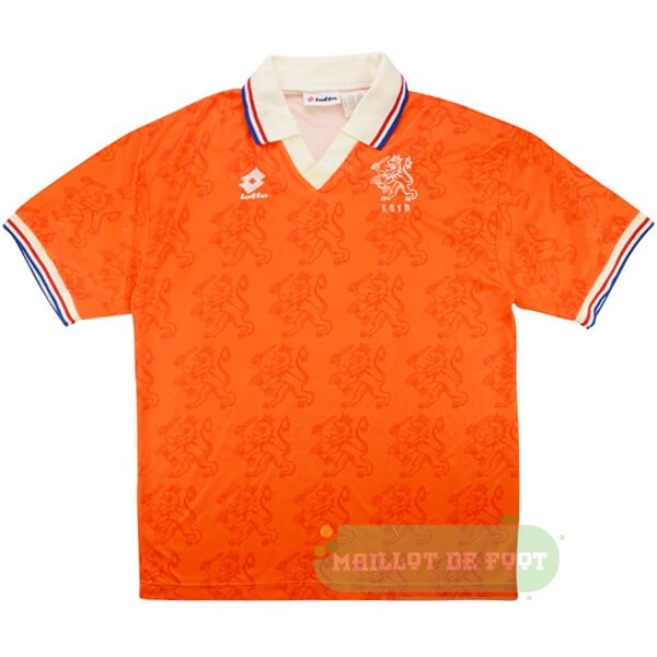 Vente Lotto Domicile Maillot Pays Bas Retro 1995 Orange