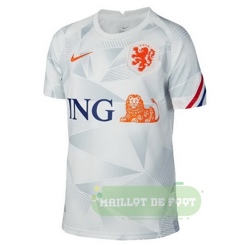 Vente Nike Pre Match Maillot Pays Bas 2020 Gris