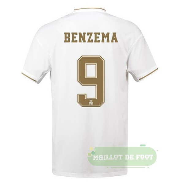 Vente adidas NO.9 Benzema Domicile Maillot Real Madrid 2019 2020 Blanc